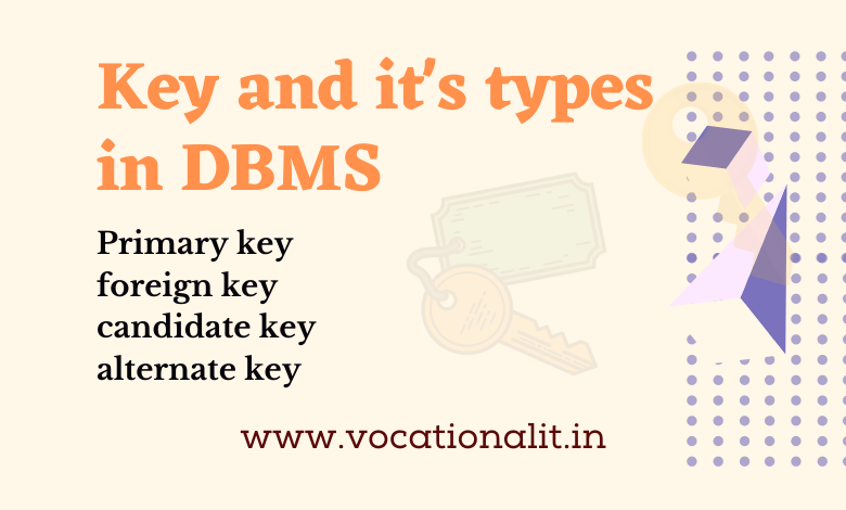 Keys and it's types in DBMS
