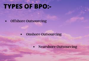Types of bpo