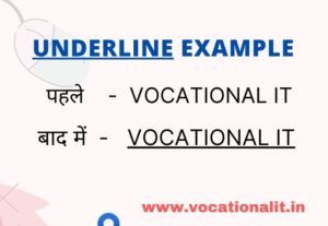 underline example